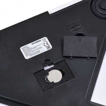 Весы напольные электронные Hyundai H-BS03563 макс.180кг белый