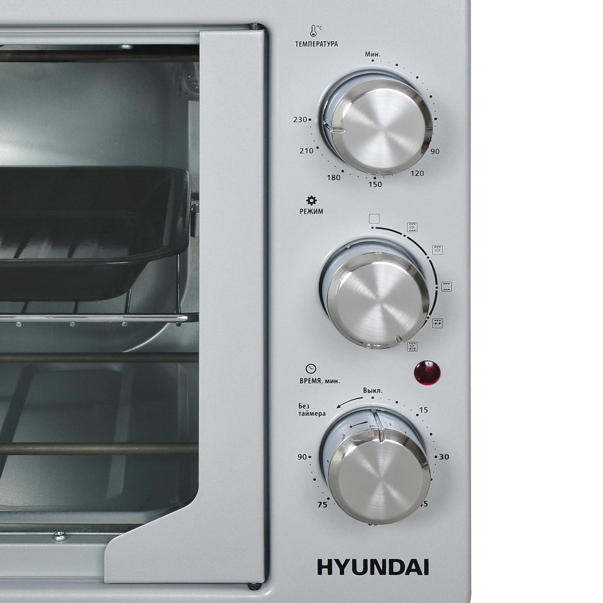 Мини-печь Hyundai MIO-HY052 42л. 1500Вт серебристый