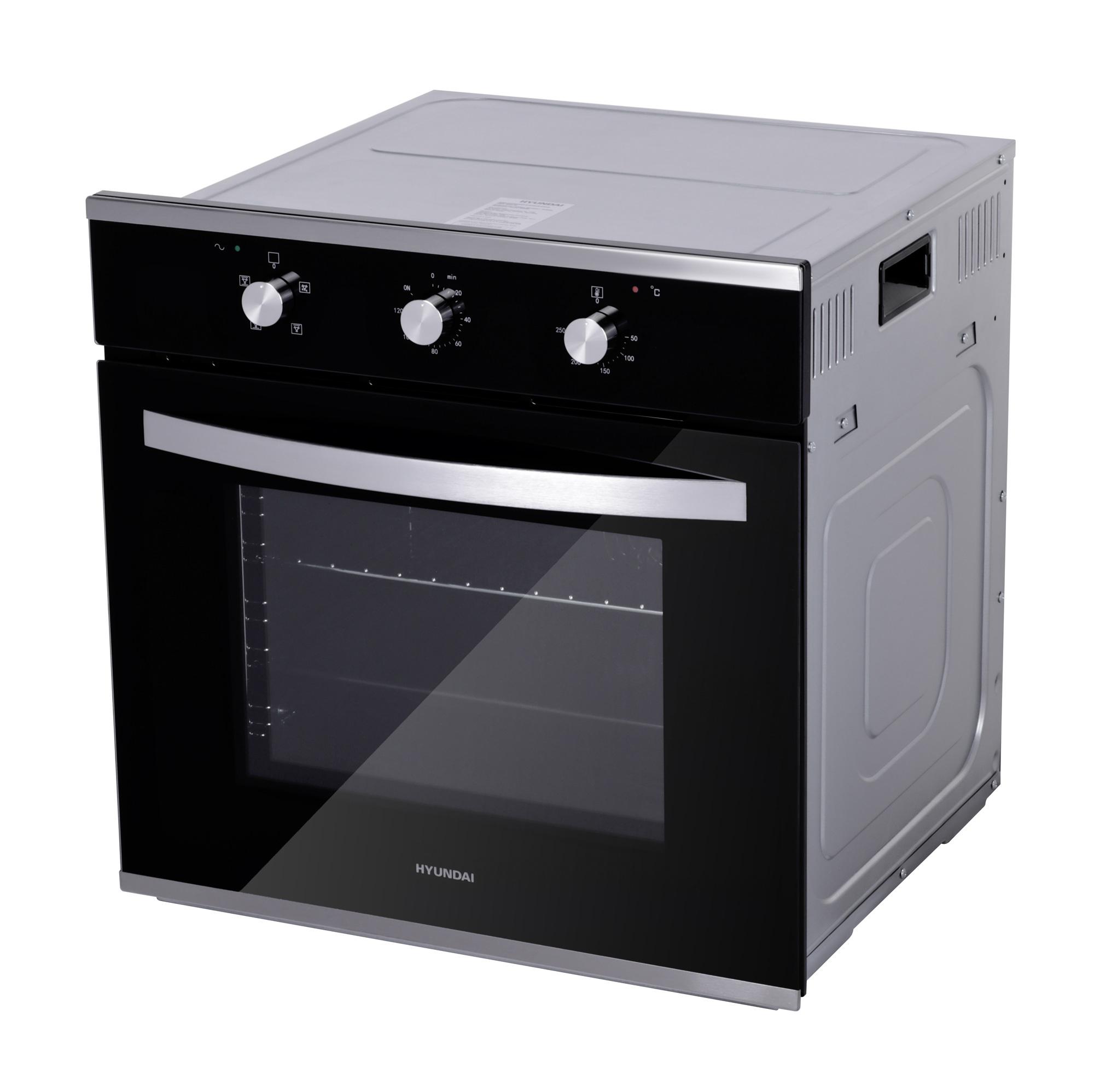 Духовой шкаф Электрический Hyundai HEO 6633 IX серебристый/черный
