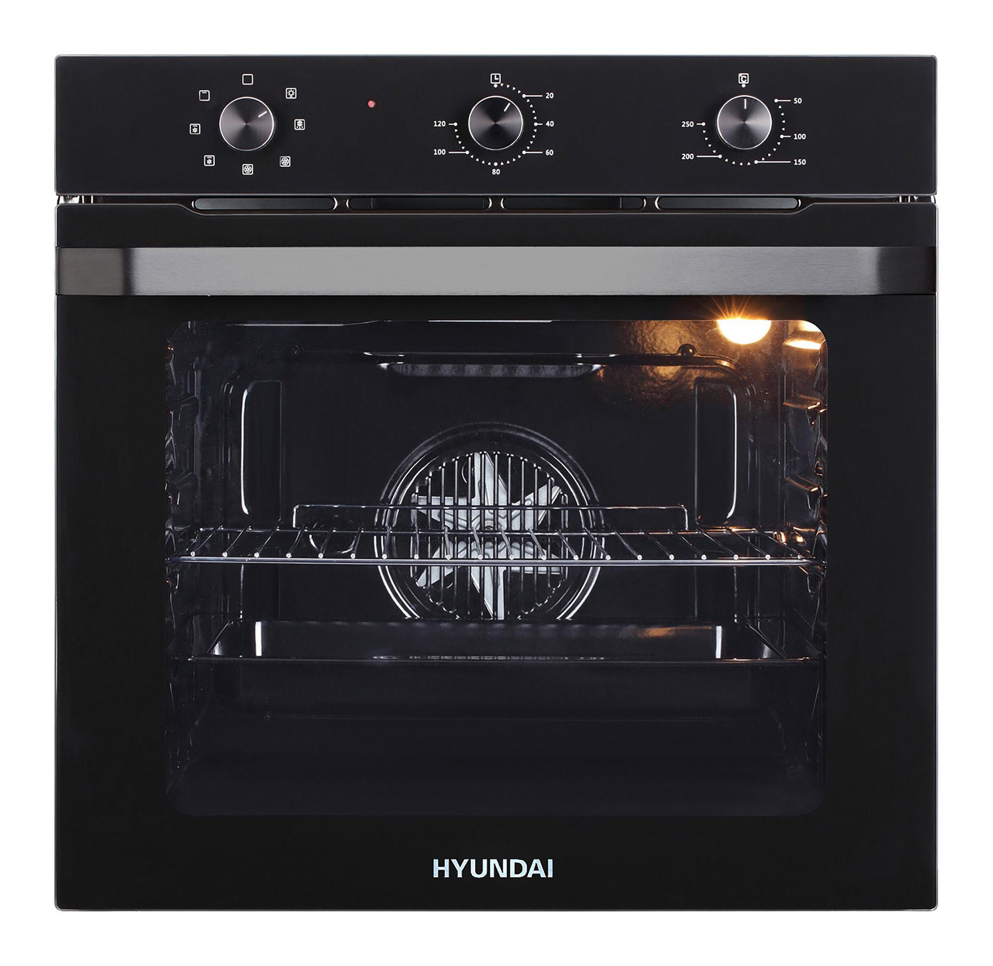 Духовой шкаф Электрический Hyundai HEO 6730 BG черный