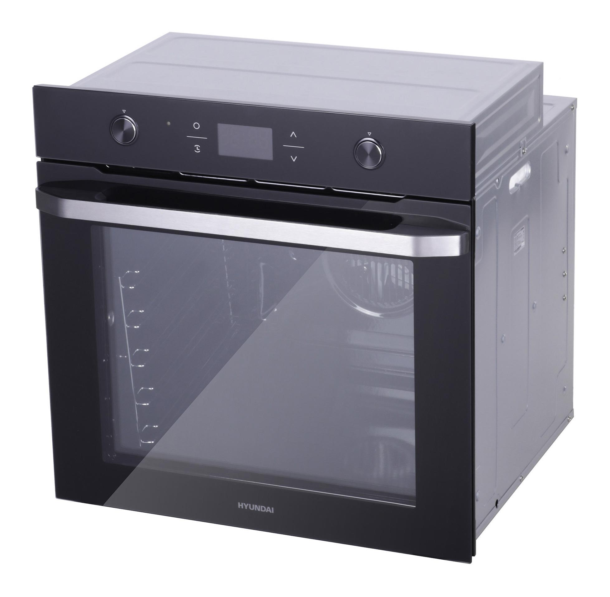 Духовой шкаф Электрический Hyundai HEO 6740 BG черный