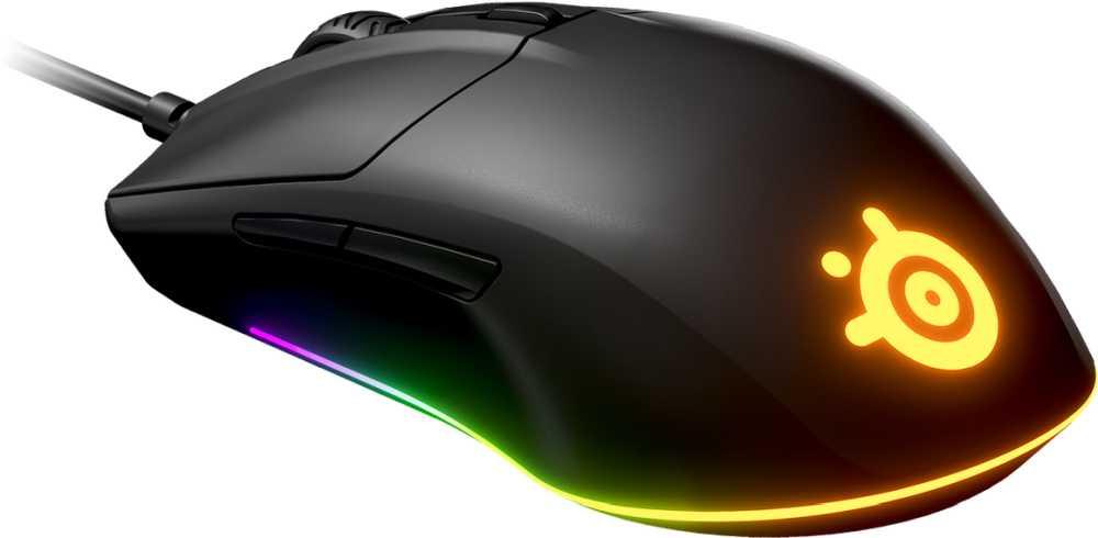 Мышь Steelseries Rival 3 черный оптическая (8500dpi) USB (6but)