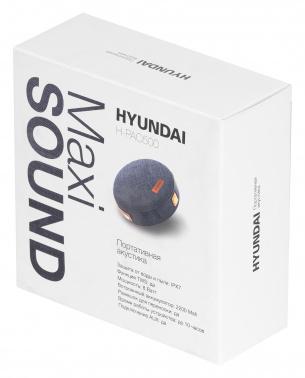 Колонка порт. Hyundai H-PAC500 черный 8W 1.0 BT/3.5Jack 10м 2200mAh
