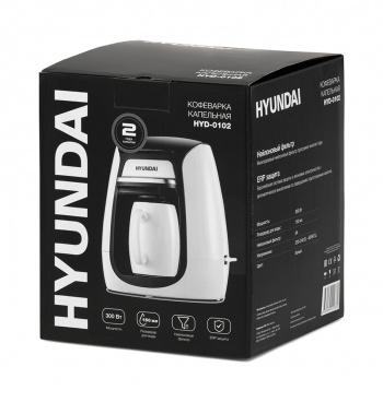 Кофеварка капельная Hyundai HYD-0102 300Вт белый