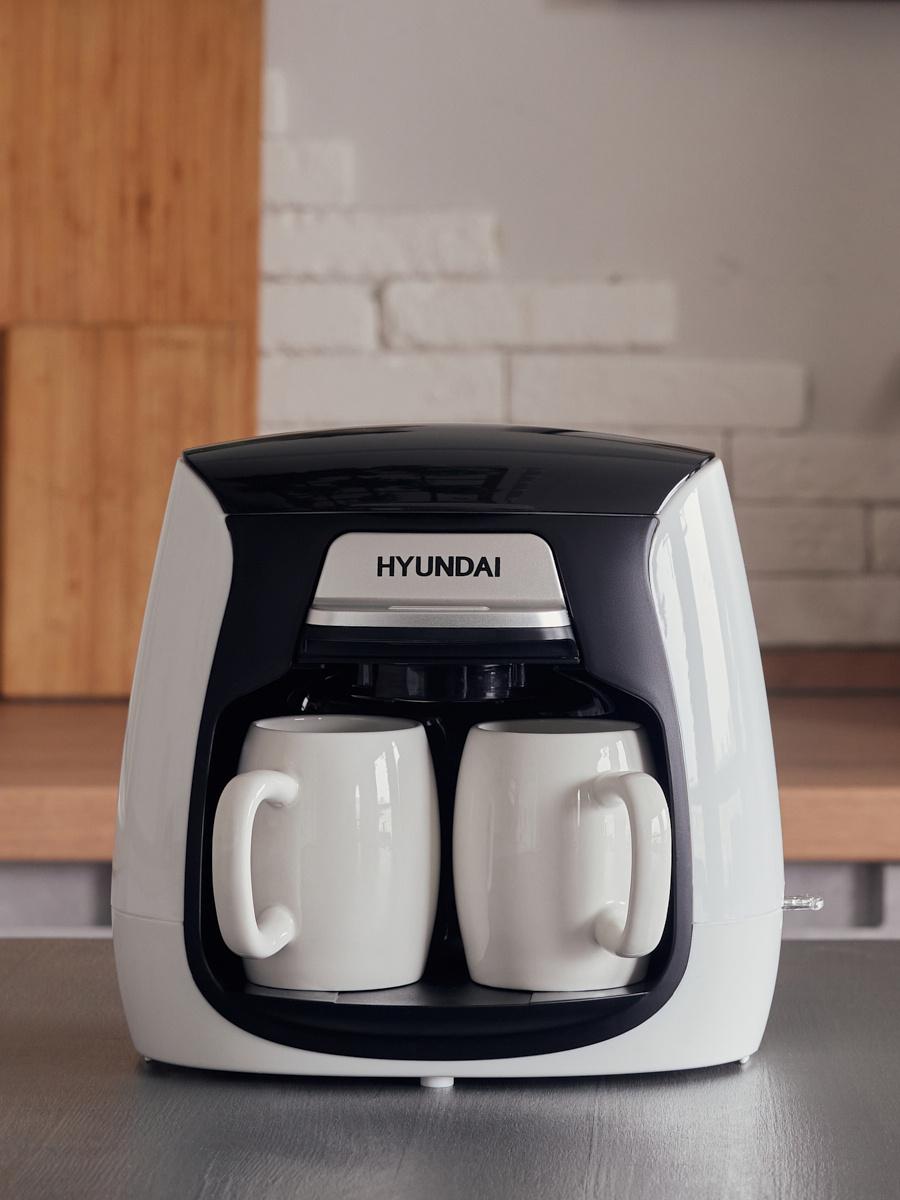Кофеварка капельная Hyundai HYD-0204 500Вт белый