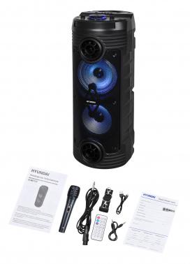 Минисистема Hyundai H-MC170 черный 80Вт FM USB BT SD/MMC