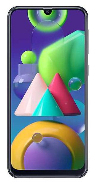 Смартфон Samsung SM-M215F Galaxy M21 64Gb 4Gb черный моноблок 3G 4G 2Sim 6.4