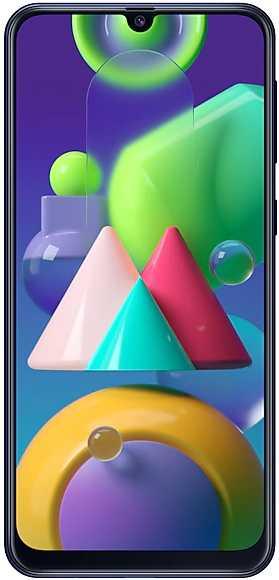 Смартфон Samsung SM-M215F Galaxy M21 64Gb 4Gb синий моноблок 3G 4G 2Sim 6.4