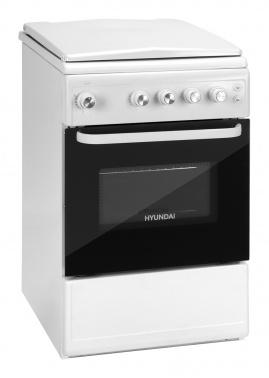 Плита Газовая Hyundai RGG213 белый (металлическая крышка) реш.эмаль