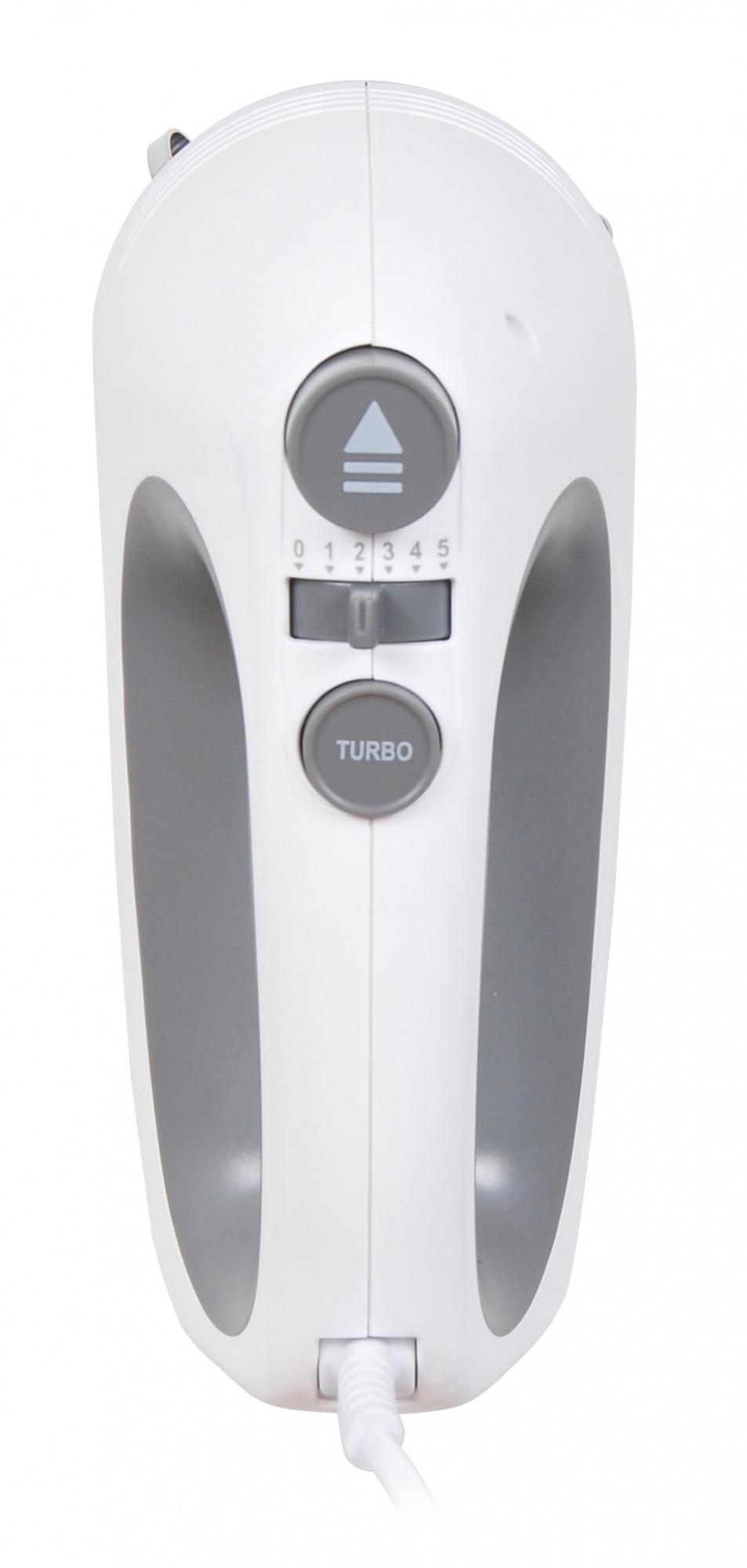 Миксер ручной Hyundai HYM-H4501 500Вт белый/серый