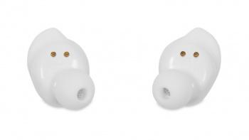 Гарнитура вкладыши Hyundai H-EP100 белый беспроводные bluetooth в ушной раковине