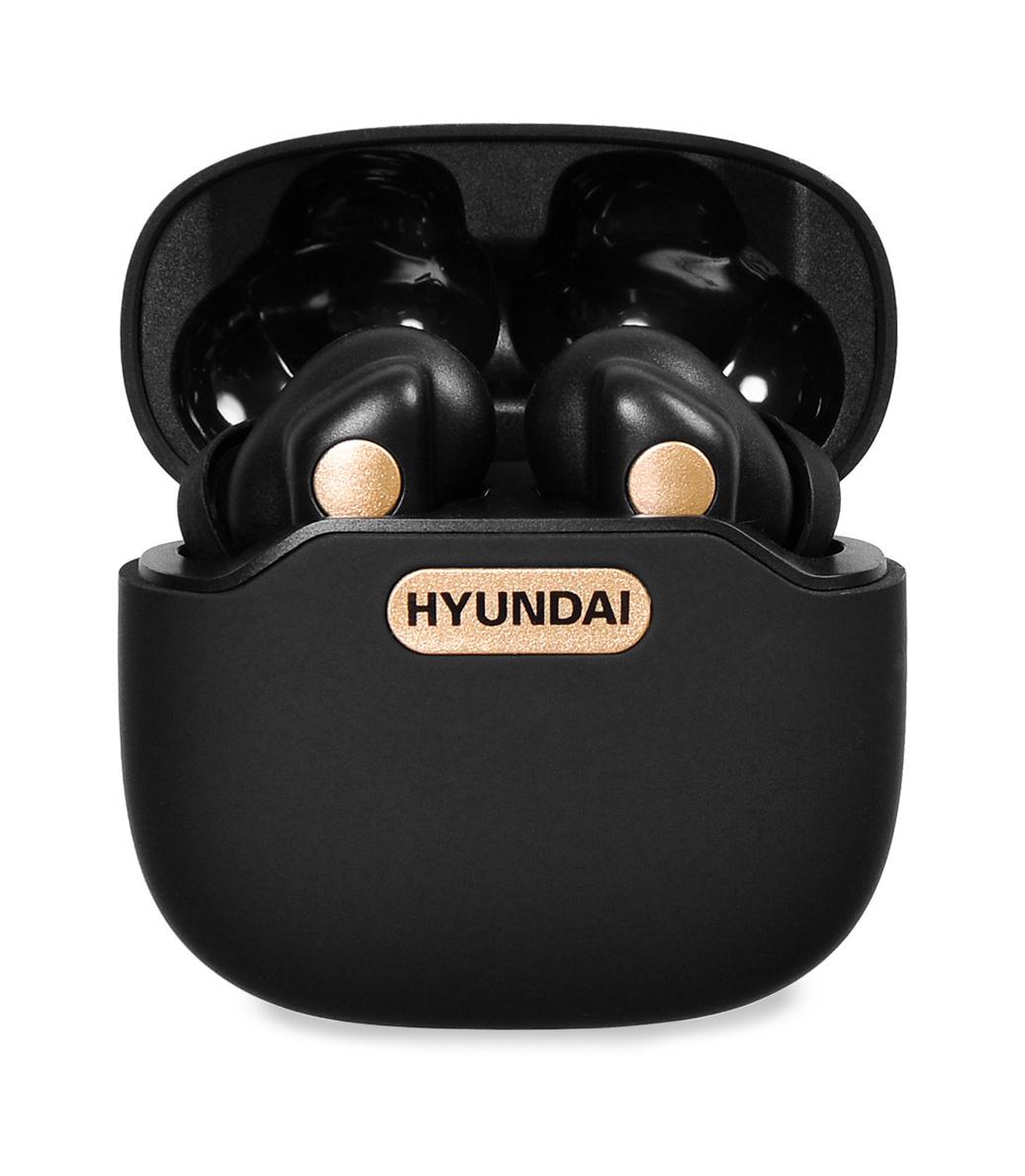 Гарнитура вкладыши Hyundai H-EP300 черный беспроводные bluetooth в ушной раковине