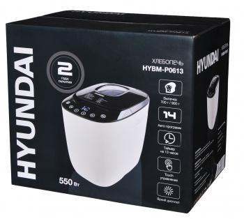 Хлебопечь Hyundai HYBM-P0613 550Вт белый/черный