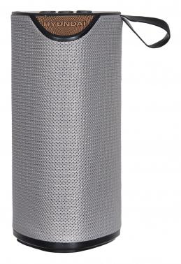 Колонка порт. Hyundai H-PAC190 серый 6W 1.0 BT/3.5Jack/USB 10м 1200mAh