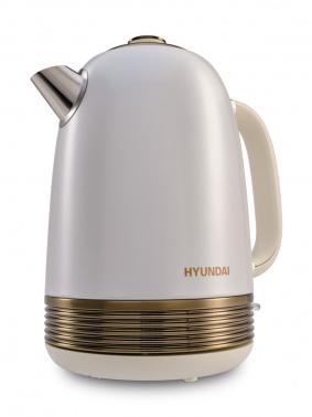 Чайник электрический Hyundai HYK-S4500 1.7л. 2200Вт жемчужный/золотистый (корпус: нержавеющая сталь/пластик)