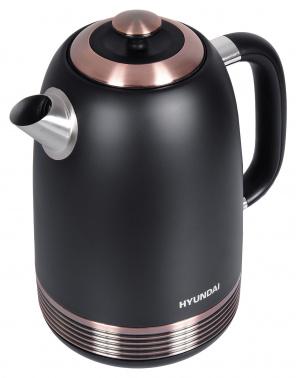 Чайник электрический Hyundai HYK-S4501 1.7л. 2200Вт черный/бронзовый (корпус: нержавеющая сталь/пластик)