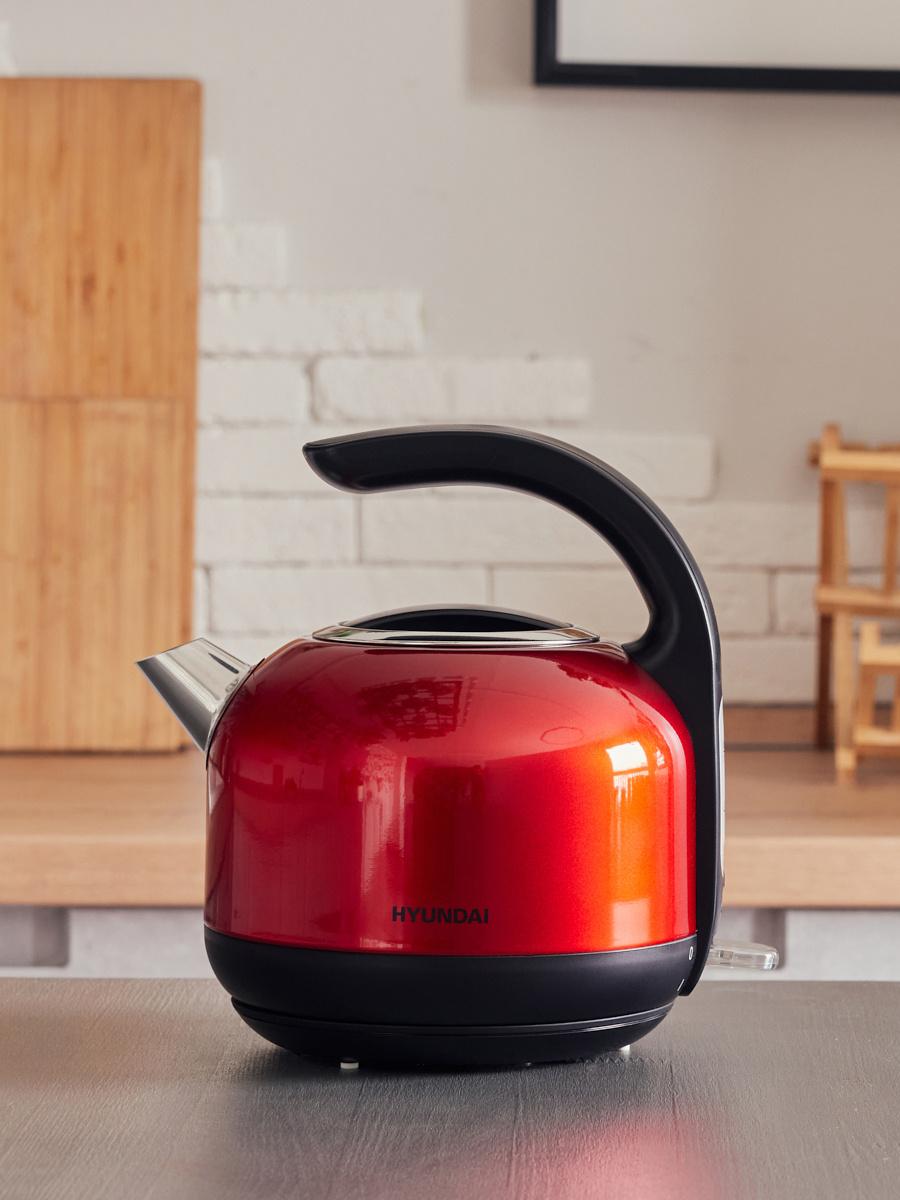 Чайник электрический Hyundai HYK-S4503 1.7л. 2200Вт красный/черный (корпус: нержавеющая сталь/пластик)