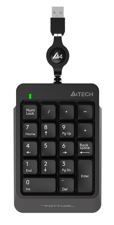 Числовой блок A4 Fstyler FK13 серый USB slim для ноутбука