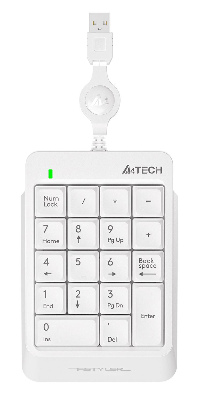 Числовой блок A4 Fstyler FK13 белый USB slim для ноутбука