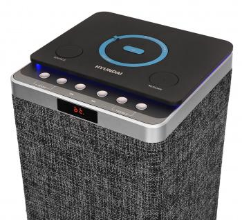 Минисистема Hyundai H-MC320 темно-серый/черный 240Вт/FM/USB/BT