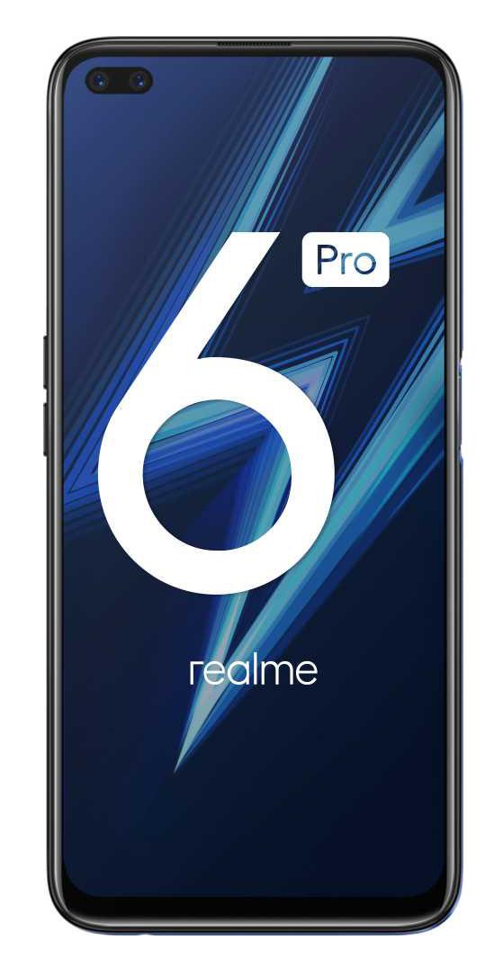 Смартфон Realme RMX2063 6 Pro 128Gb 8Gb синий моноблок 3G 4G 2Sim 6.6