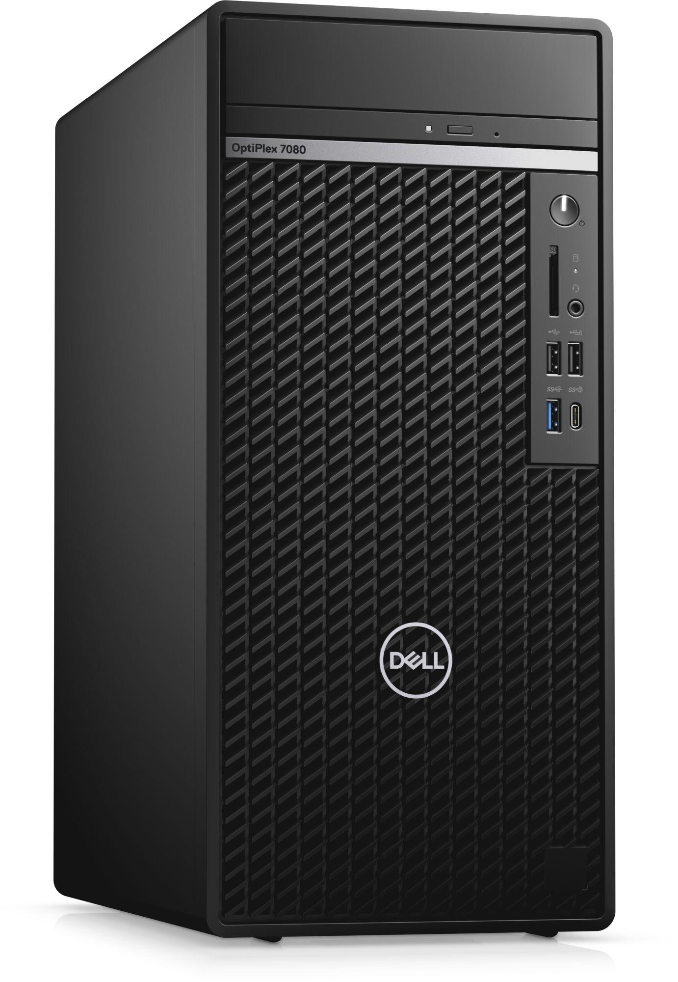 ПК Dell Optiplex 7080 MT Core i9 10900 (2.8)/16Gb/SSD1Tb/GTX1660 Super 6Gb/DVDRW/CR/Windows 10 Professional/GbitEth/WiFi/BT/360W/клавиатура/мышь/черный