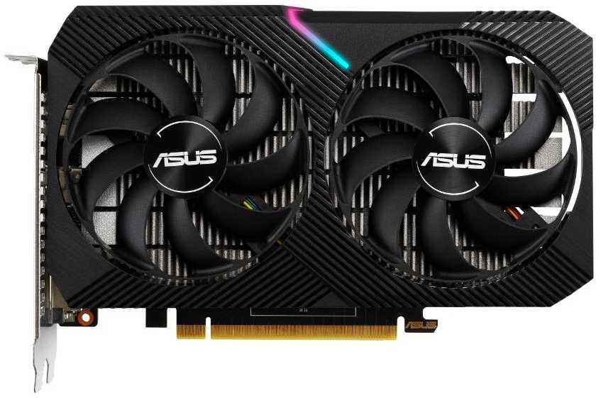 Видеокарта Asus PCI-E DUAL-GTX1650-O4GD6-MINI NVIDIA GeForce GTX 1650 4096Mb 128 GDDR6 1410, 6001 DVIx1, HDMIx1, DPx1, HDCP Ret
