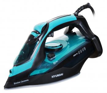 Утюг Hyundai H-SI01221 3000Вт черный/зеленый