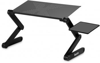 Стол для ноутбука Buro BU-804 столешница металл черный 48x26см