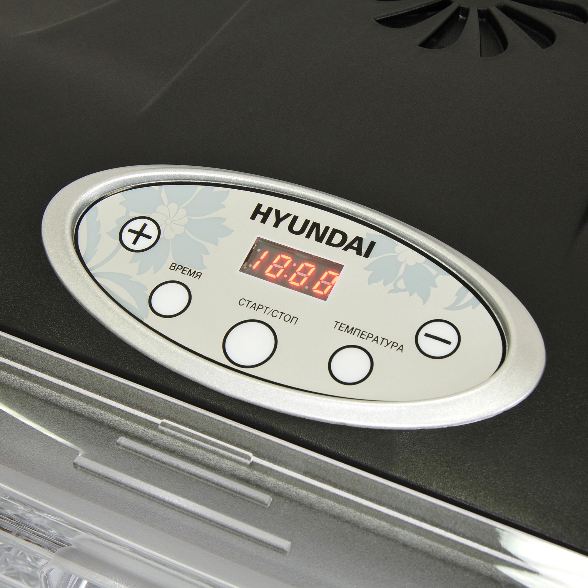 Сушка для фруктов и овощей Hyundai HYFD-P1801 18под. 700Вт черный