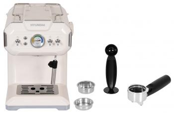 Кофеварка эспрессо Hyundai HEM-5300 850Вт бежевый/серебристый