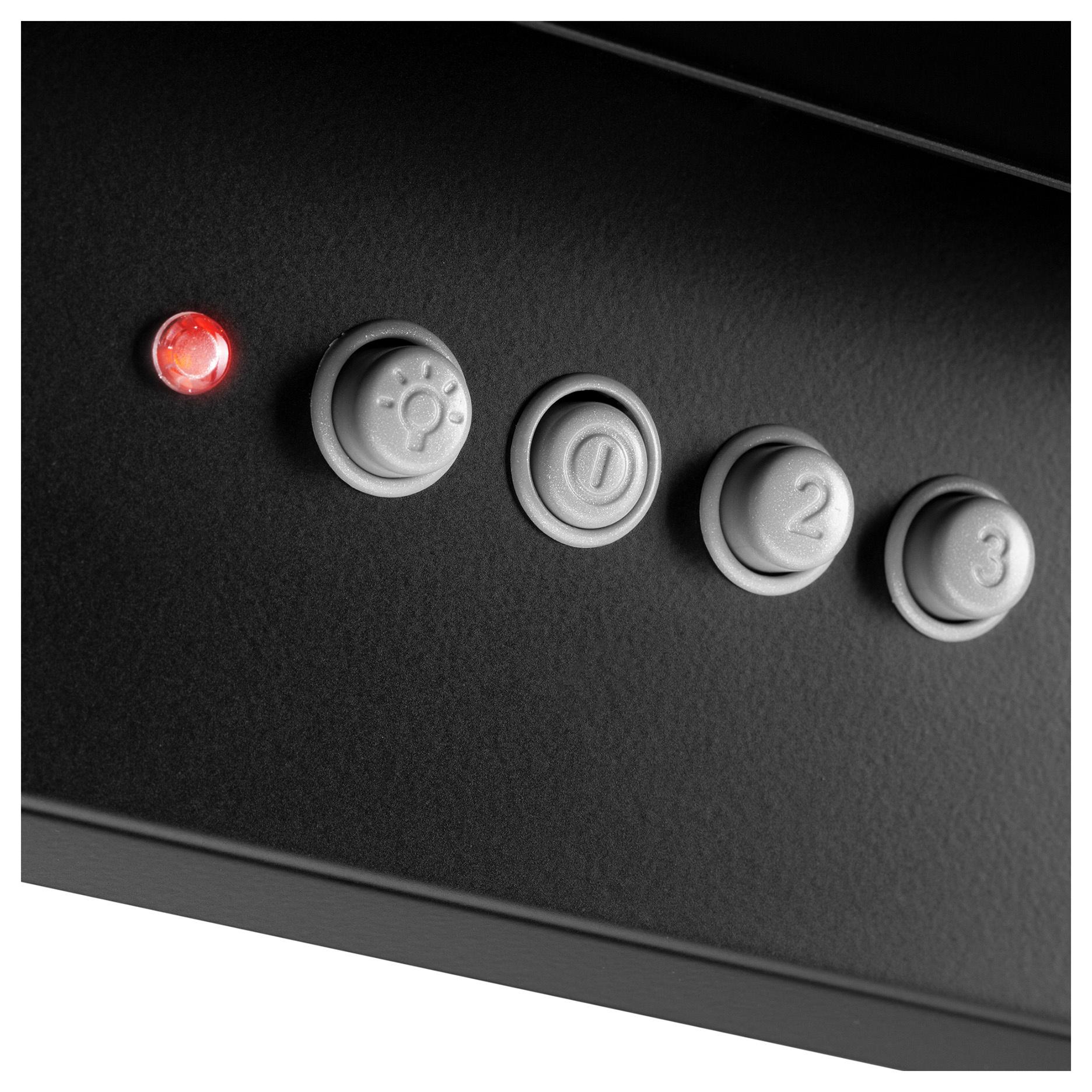 Вытяжка каминная Hyundai HGH 6731 BG черный управление: кнопочное (1 мотор)