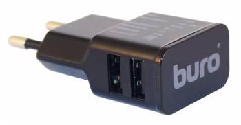 Сетевое зар./устр. Buro TJ-160b 1.1A+1A универсальное черный