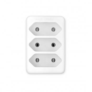 Сетевой разветвитель Buro BU-PS3F-W (3 розетки) белый (пакет ПЭ)