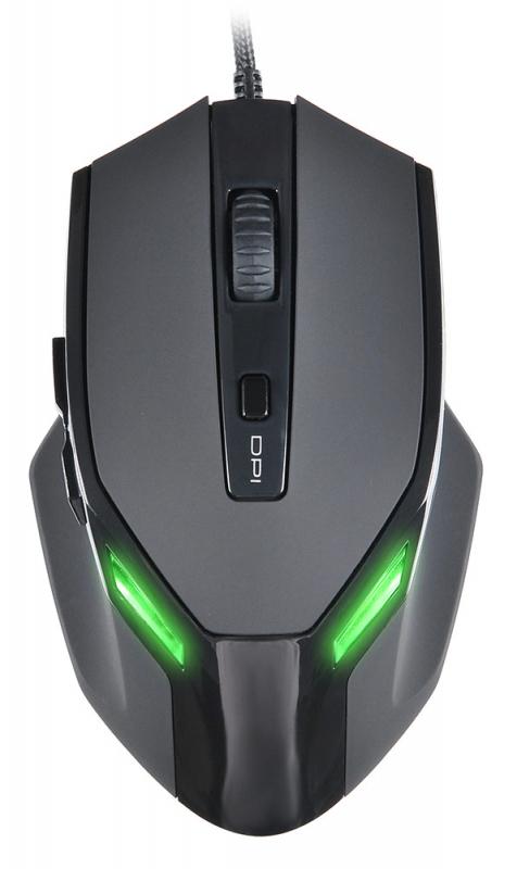 Мышь Oklick 835G PREDATOR черный оптическая USB (5but)