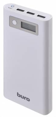 Мобильный аккумулятор Buro RA-16000-3U-LCD -WT Li-Ion 16000mAh 2.1A+1A белый 3xUSB