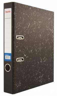 Папка-регистратор Buro A4 50мм бумага/бумага черный мрамор без. окант. разборная накл.на кор.