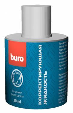 Жидкость коррект. Buro 069000100 на основе растворителя кисточка 20мл