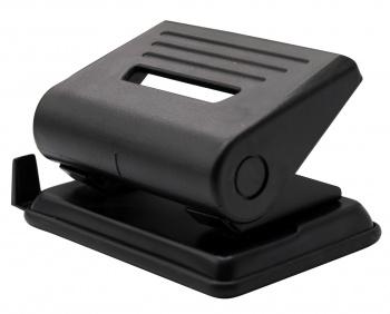 Дырокол Buro 032000301 макс.:15лист. металл/пластик черный отв.:2 с линейкой