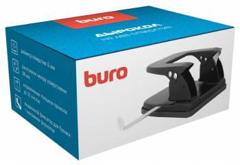 Дырокол Buro 062000101 макс.:30лист. металл черный отв.:2 с линейкой