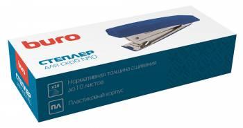 Степлер настольный Buro 075000200 N10 (10листов) синий 50скоб пластик