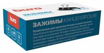 Зажимы Buro 065000301 металл 25мм черный (упак.:12шт) картонная коробка