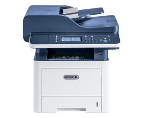 МФУ лазерный Xerox WorkCentre WC3345DNI (3345V_DNI) A4 Duplex Net WiFi белый/синий
