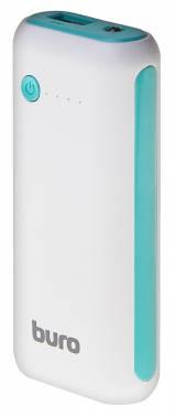 Мобильный аккумулятор Buro RC-5000WB Li-Ion 5000mAh 1A белый/голубой 1xUSB