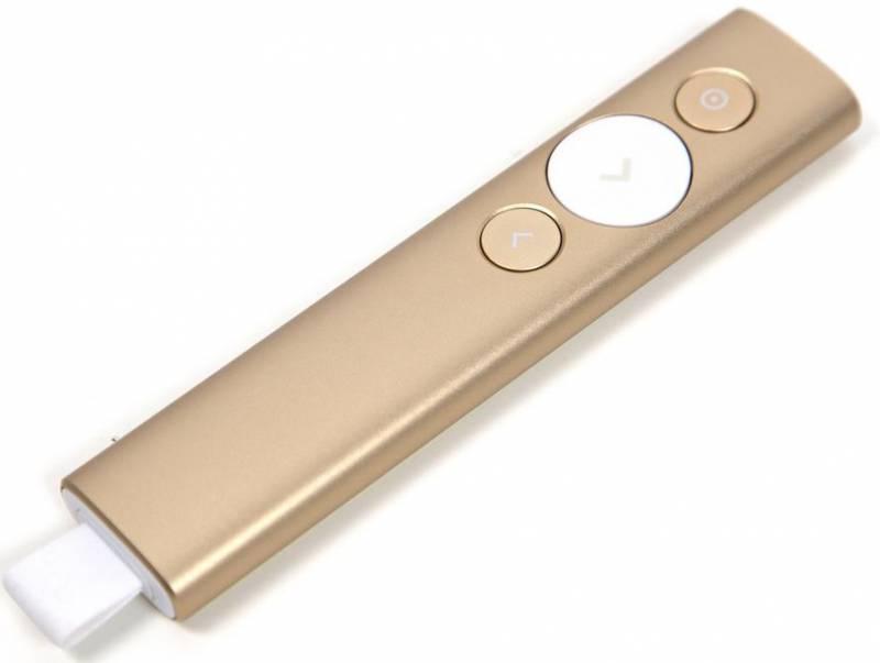 Презентер Logitech Spotlight Radio USB (30м) золотистый