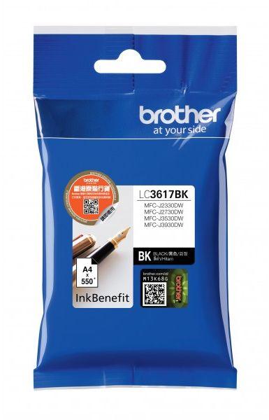 Картридж струйный Brother LC3617BK черный (550стр.) для Brother MFC-J3530DW/J3930DW