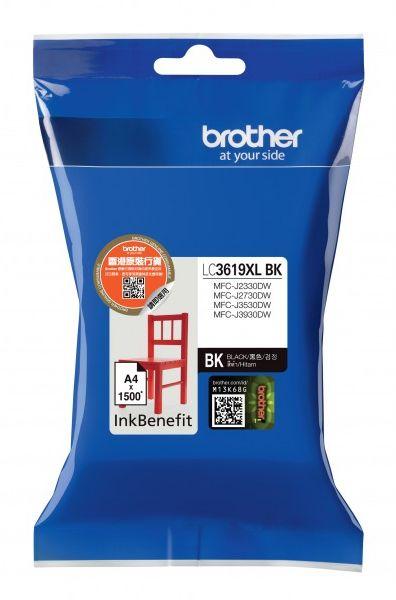 Картридж струйный Brother LC3619XLBK черный (3000стр.) для Brother MFC-J3530DW/J3930DW