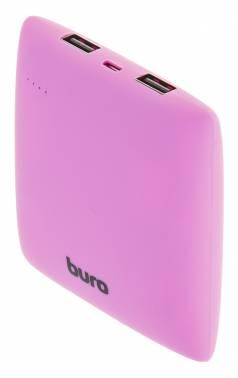 Мобильный аккумулятор Buro RA-7500PL-PU Pillow Li-Ion 7500mAh 2.1A фиолетовый 2xUSB