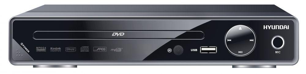 Плеер DVD Hyundai H-DVD200 черный Караоке ПДУ