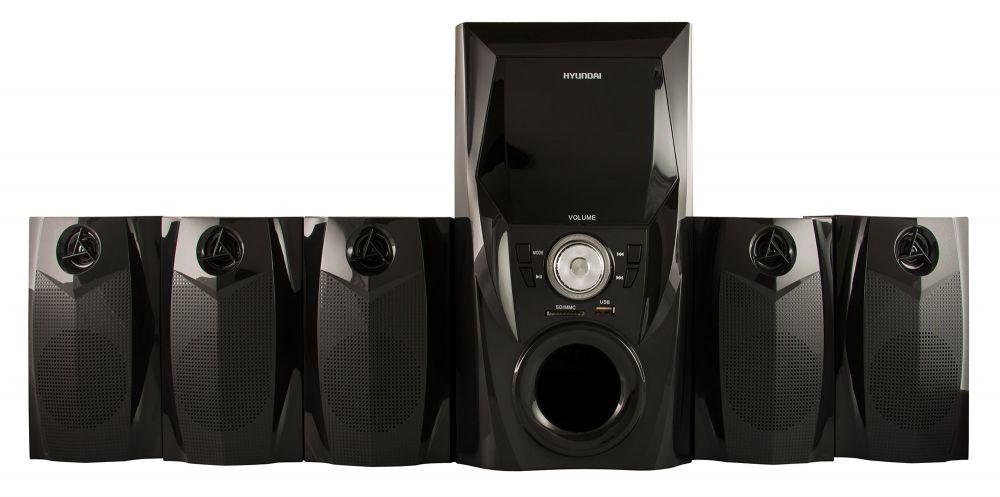 Микросистема Hyundai H-HA500 черный 150Вт/FM/USB/SD
